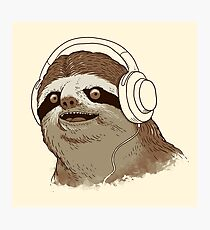 What is a sloths favourite music? Photographic Print