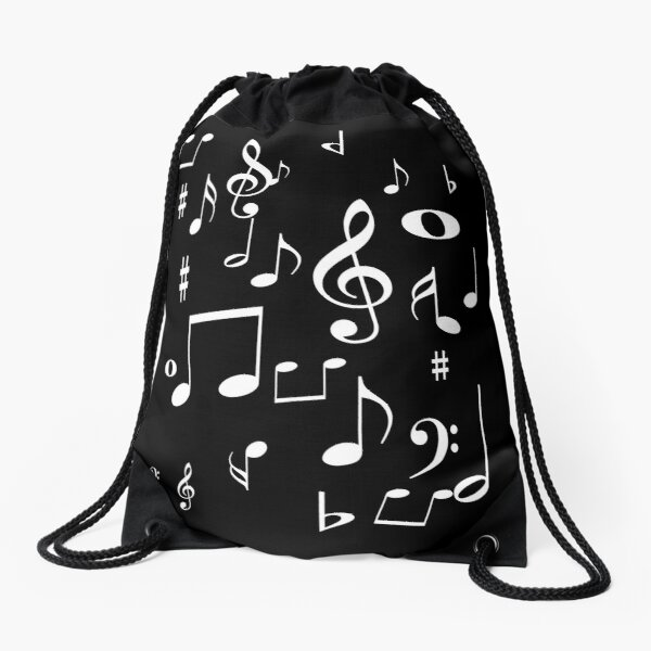 Music notes Drawstring Bag