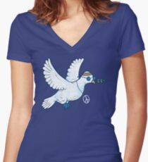 The Hippie Dove Women's Fitted V-Neck T-Shirt