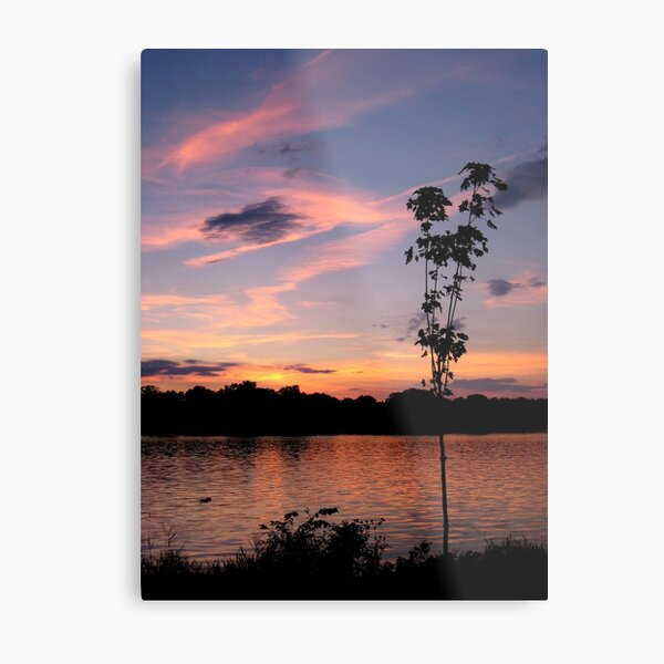Sunset over the Rock River Metal Print