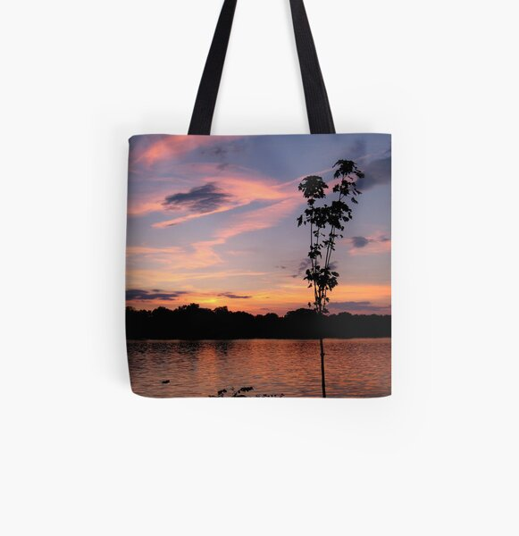 Sunset over the Rock River All Over Print Tote Bag