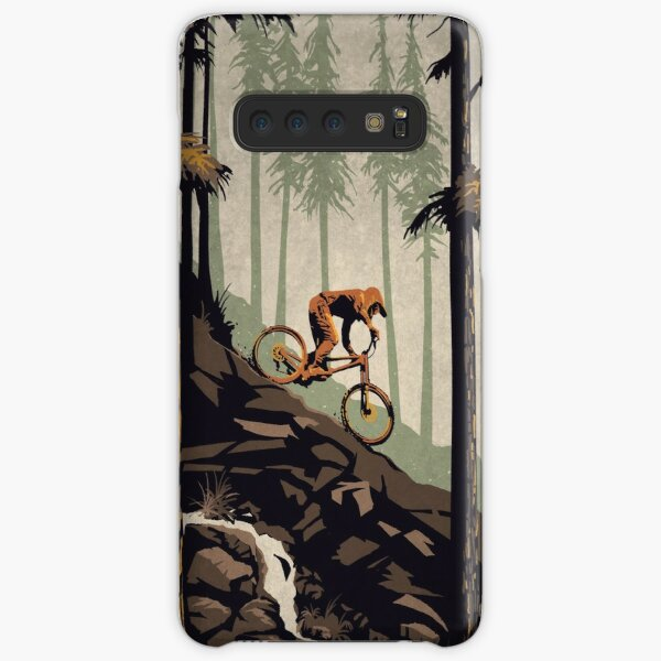 Retro Scenic Mountain Bike Poster Art: Think Outside, No Box Required! Samsung Galaxy Snap Case