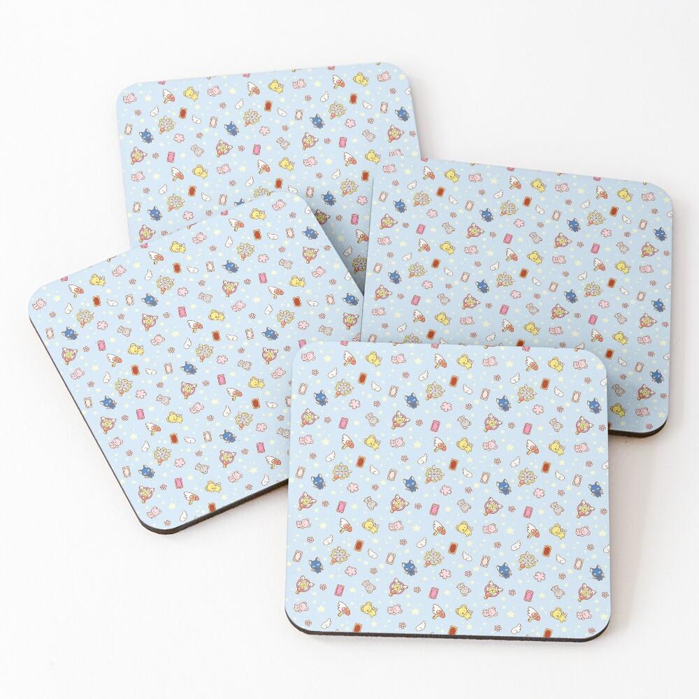 cardcaptor sakura cute magical girl things blue Coasters (Set of 4)