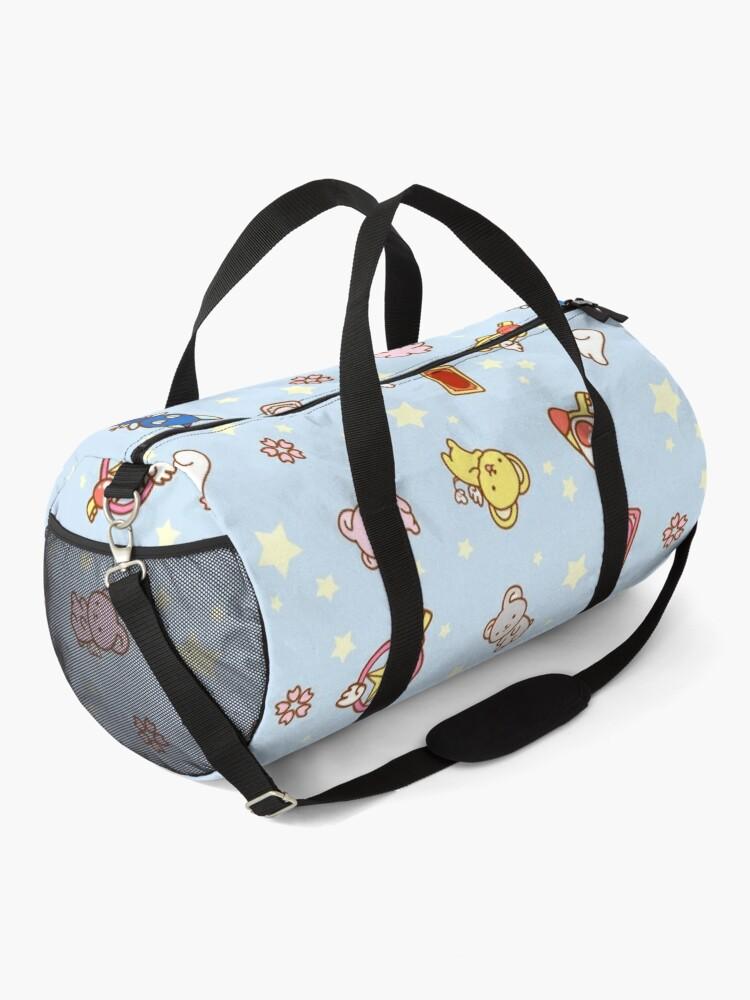 Alternate view of cardcaptor sakura cute magical girl things blue Duffle Bag