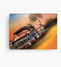 Rusting Time Machine Canvas Print