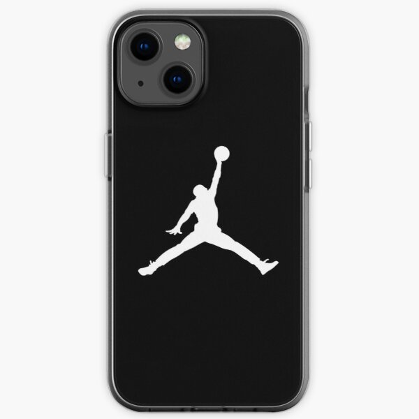 Jordan logo White iPhone Soft Case