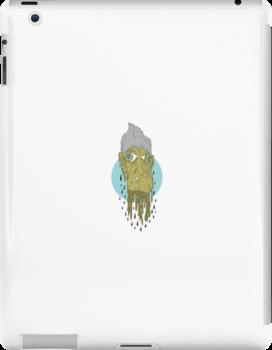 Creepy Nan iPad Case by Seb Rosa
