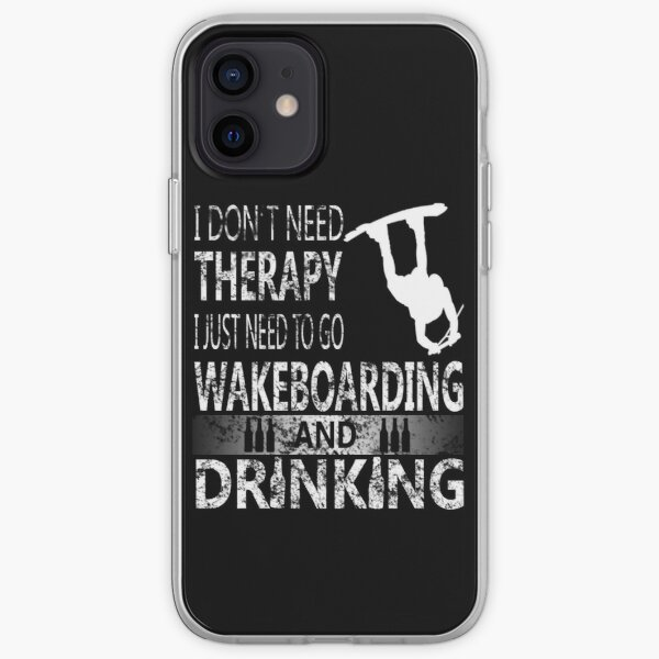 WAKEBOARD N DRINKING iPhone Soft Case