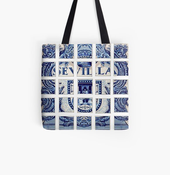 Sevilla Seville Ceramic Tiles All Over Print Tote Bag