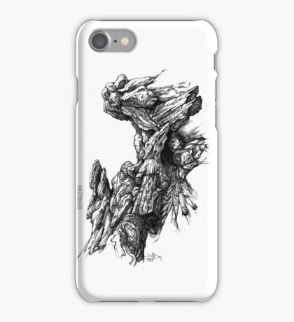 Rock Facade - Sketch Pen & Ink Illustration Art iPhone Case/Skin