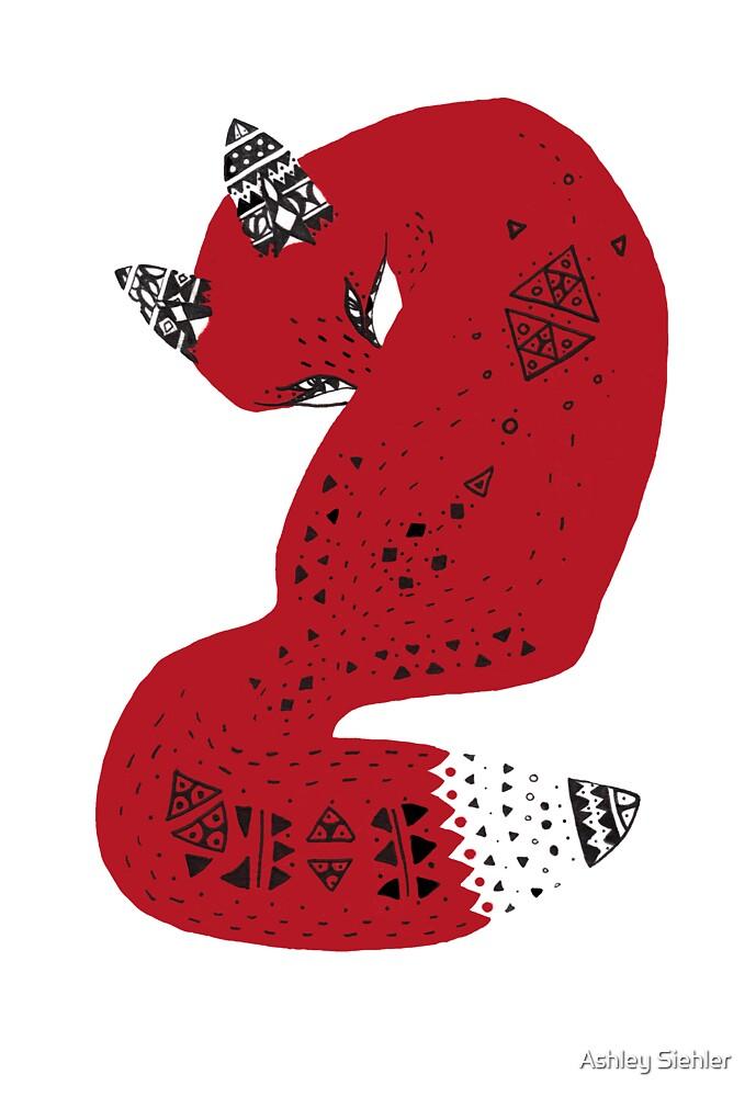 Red Tribal Fox by Ashley Weiler
