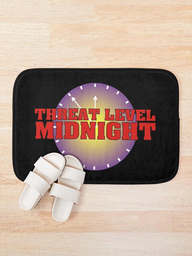 Alternate view of Threat level Midnight Bath Mat