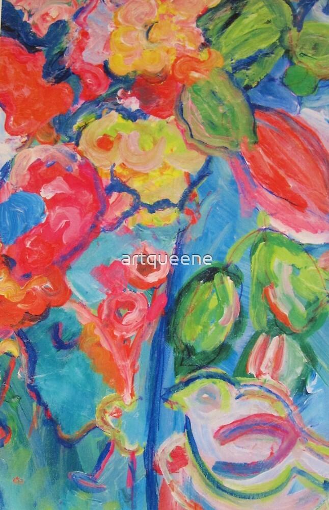 Woman's Vase and Bird by artqueene