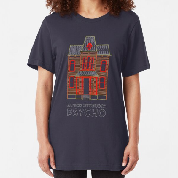 Alfred Hitchcock PSYCHO (Blood Orange) Slim Fit T-Shirt