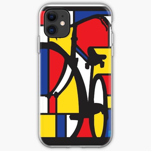 Mondrian Bicycle art iPhone Soft Case