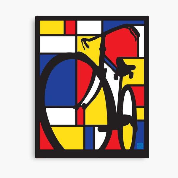 Mondrian Fahrradkunst Leinwanddruck
