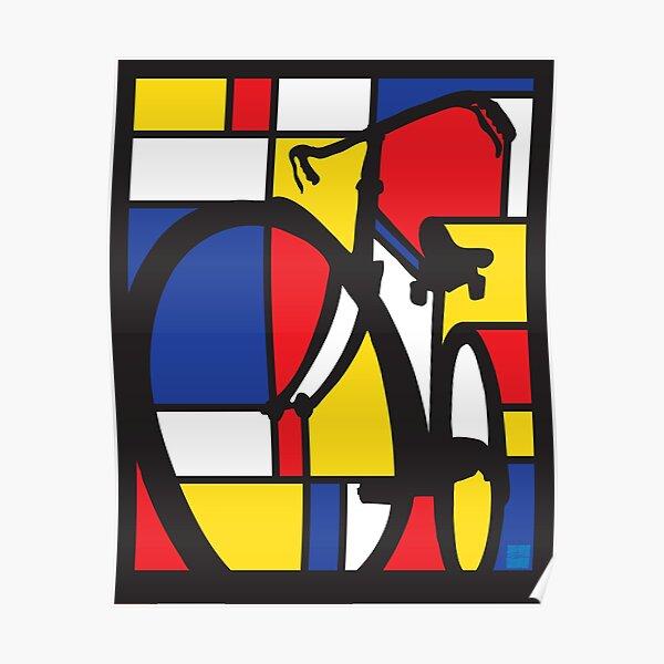 Mondrian Bicycle art Poster