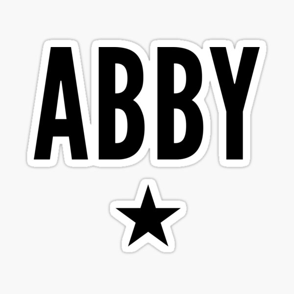Abby is a Star Sticker