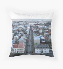 European Fishing Village Grown Big Throw Pillow