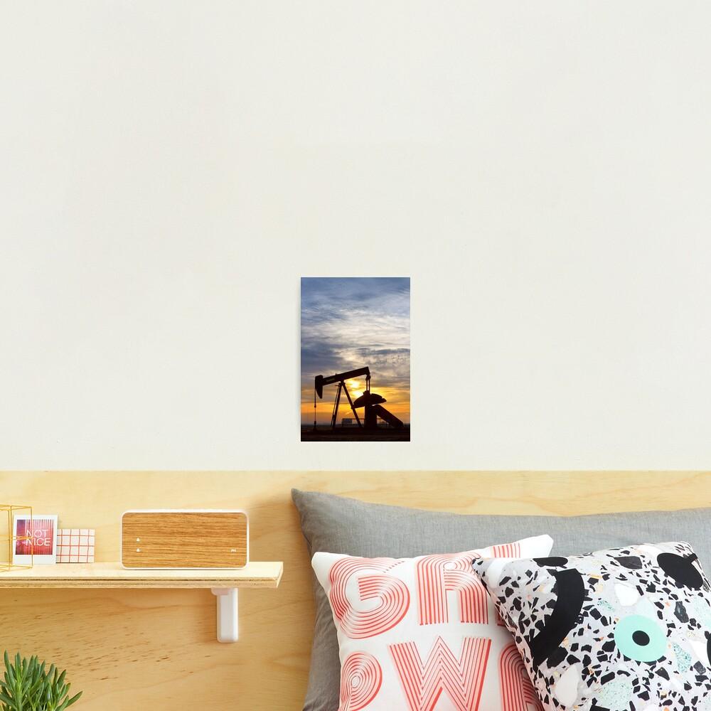 Oil Pumper At Sunrise Vertical Image Photographic Print