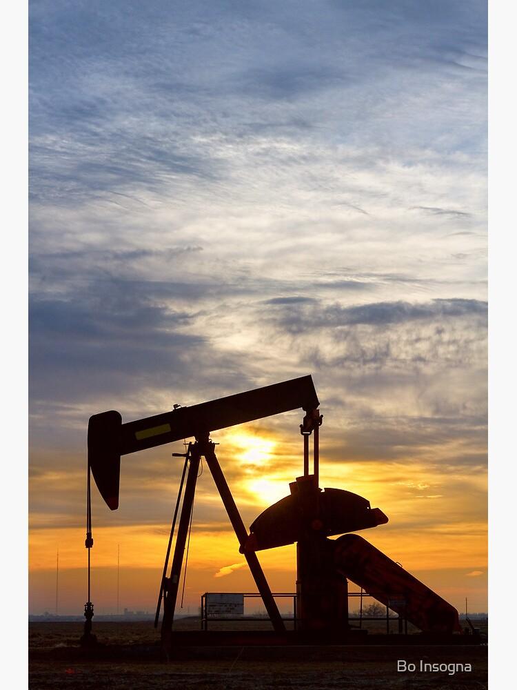 Oil Pumper At Sunrise Vertical Image by mrbo