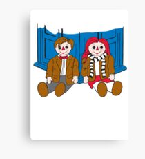 Raggedy Man and Amy-variant Canvas Print