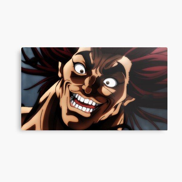 Yujiro Hanma Baki Anime Smile Metal Print