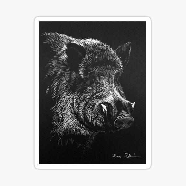 Wild boar Sticker