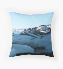 Up the Glacier Throw Pillow