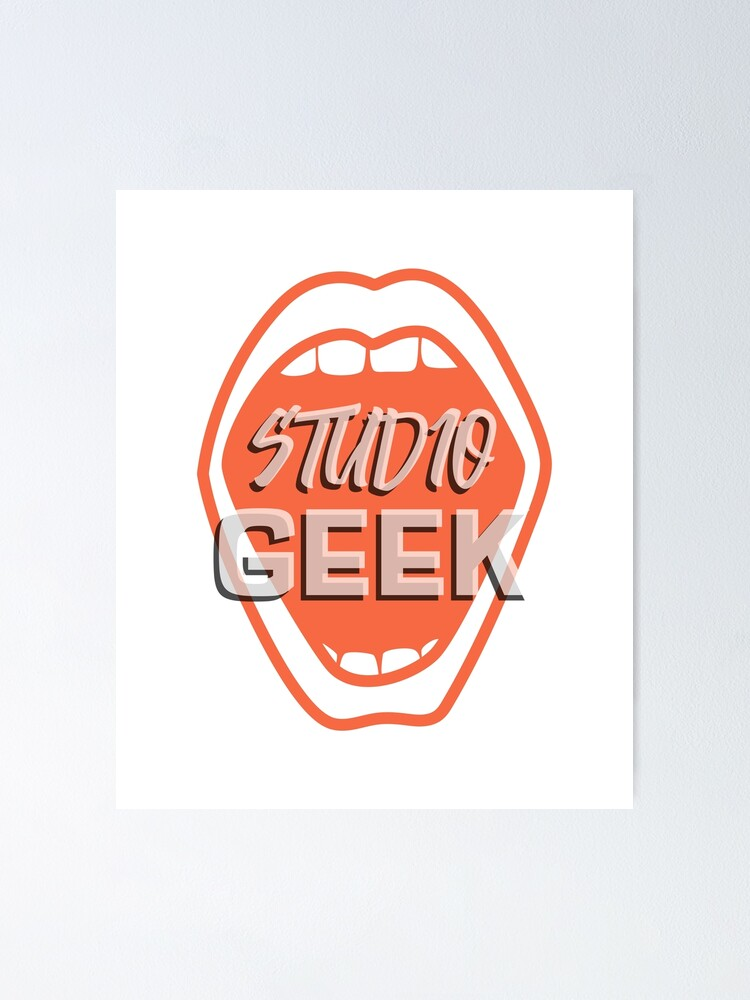The Studio Geek Design Poster By Desined Redbubble