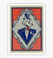 Wolf Card Sticker