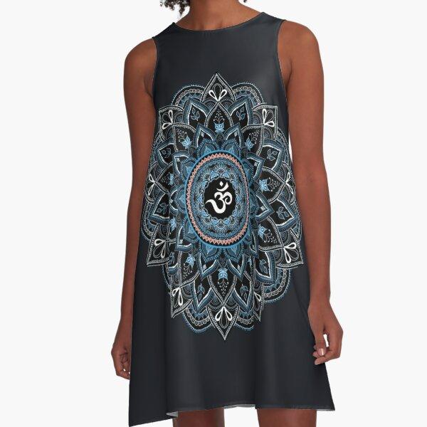 OM Shakti Mandala  A-Line Dress