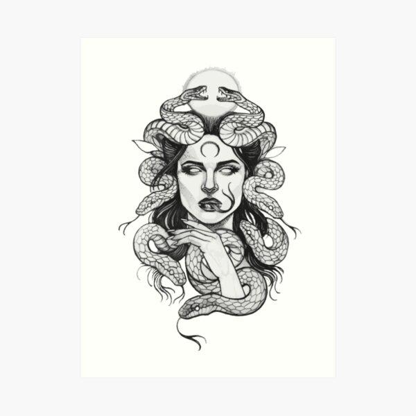 Medusa Art Work Lámina artística