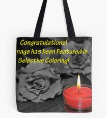 Selective Coloring Feature Banner Tote Bag