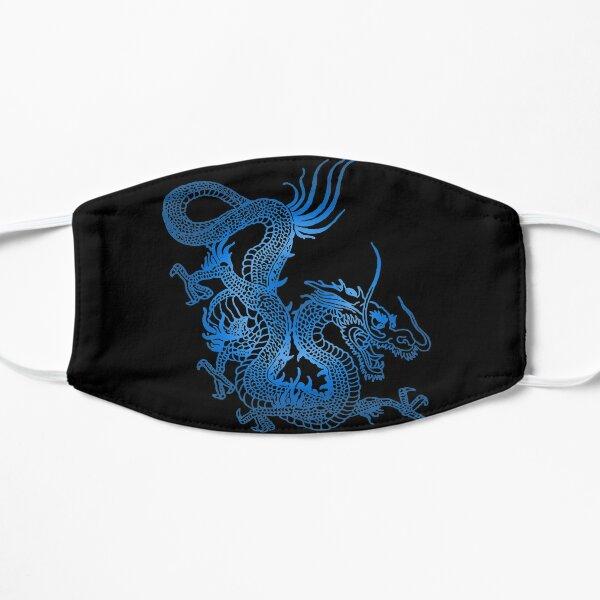 Blue Chinese Dragon Flat Mask