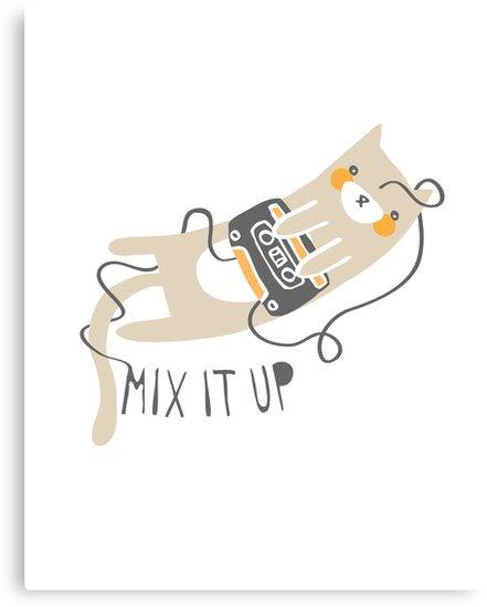Mixtape Kitty by thekitschycat
