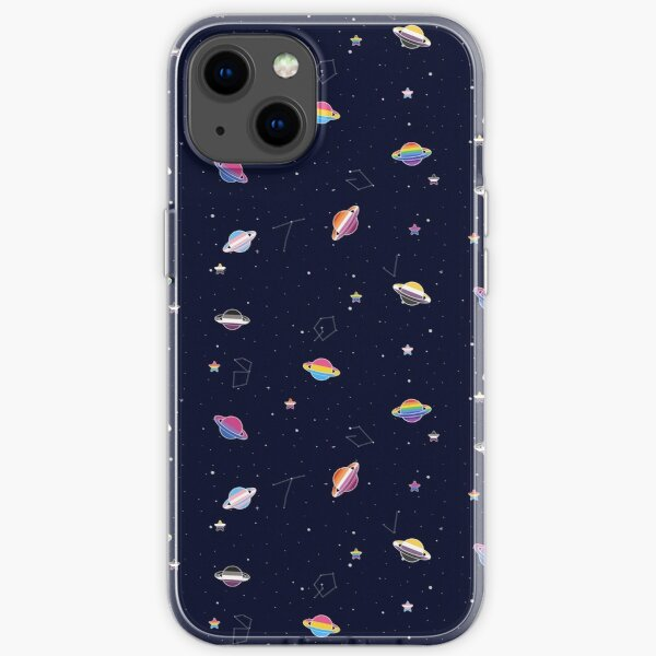 LGBTQ Pride Planets & Stars in Space Pattern iPhone Soft Case
