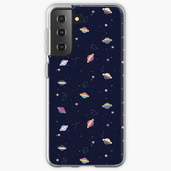 LGBTQ Pride Planets & Stars in Space Pattern Samsung Galaxy Soft Case