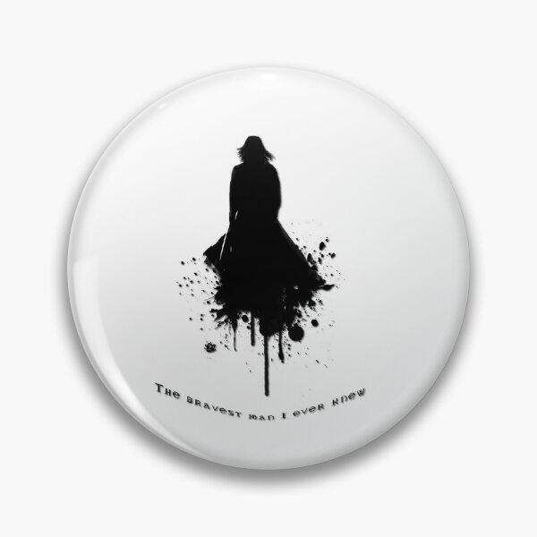 The Bravest \  Black-White concept Pin