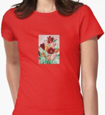 A Beautifully Bold Floral Bouquet of Tulips Women's Fitted T-Shirt