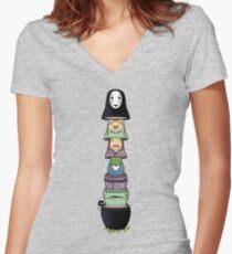 Nested Away Women's Fitted V-Neck T-Shirt