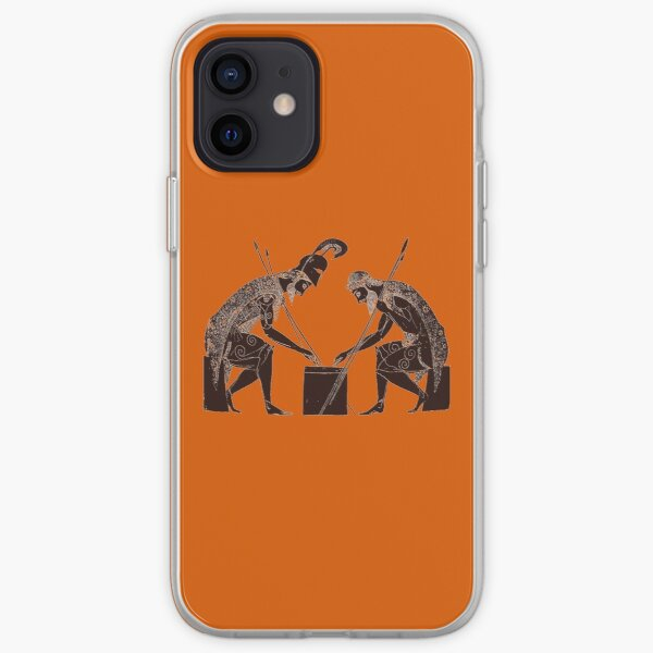 Achilles and Ajax playing a game of dice iPhone Soft Case