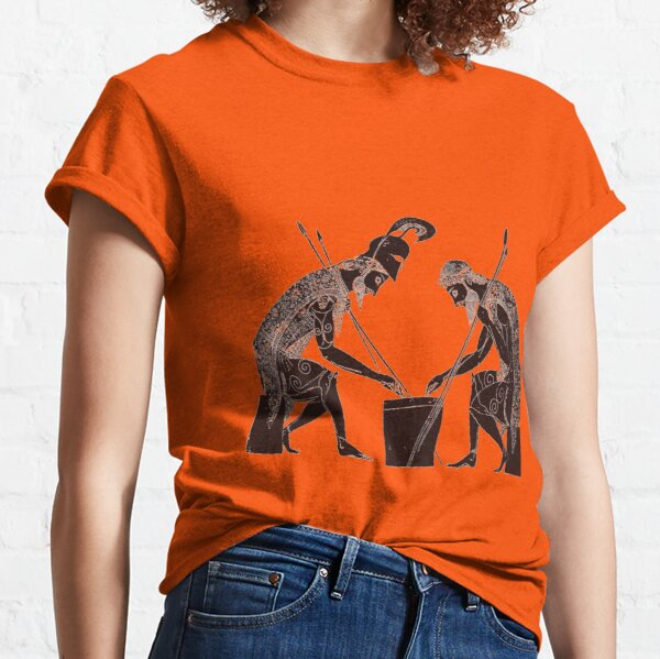 Achilles and Ajax playing a game of dice Classic T-Shirt