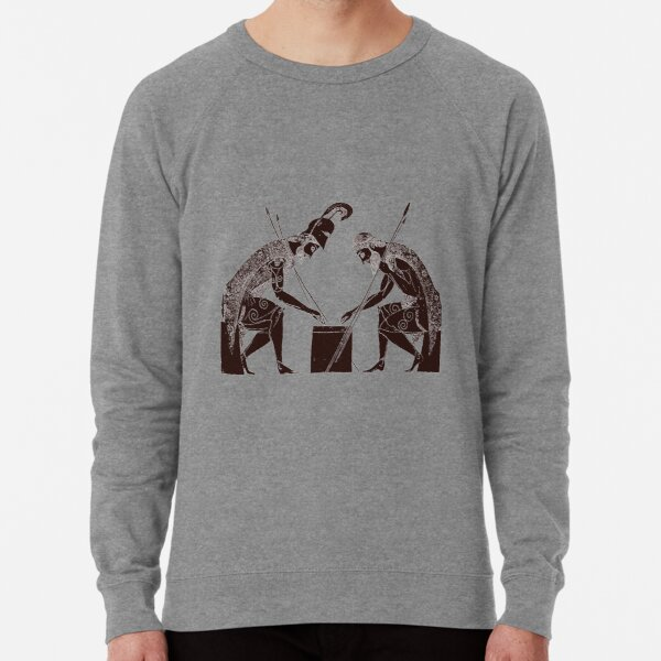 Achilles and Ajax playing a game of dice Lightweight Sweatshirt