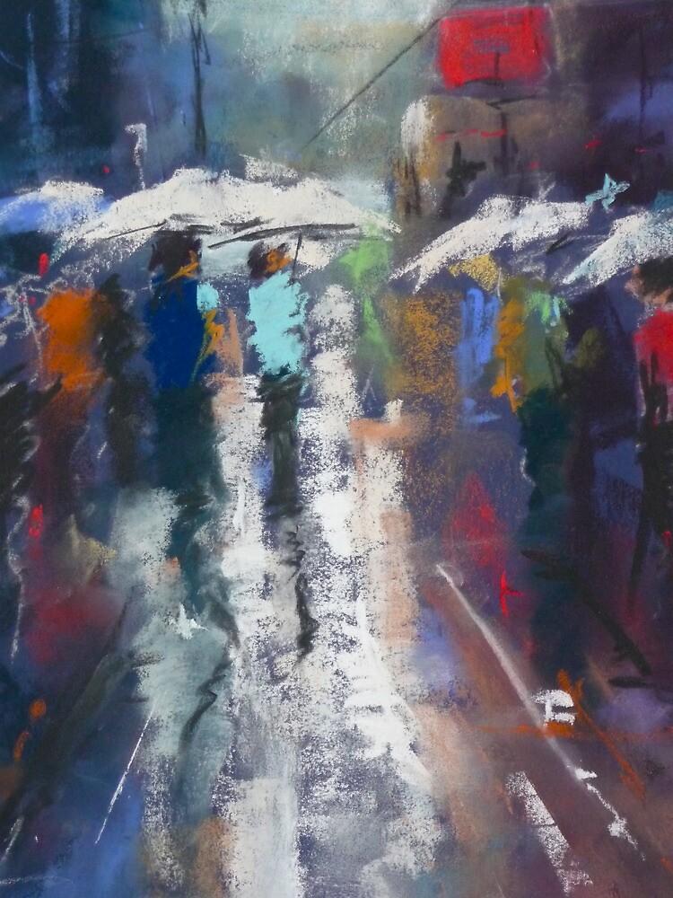 Street Walk in a Sun Shower by Mick Kupresanin