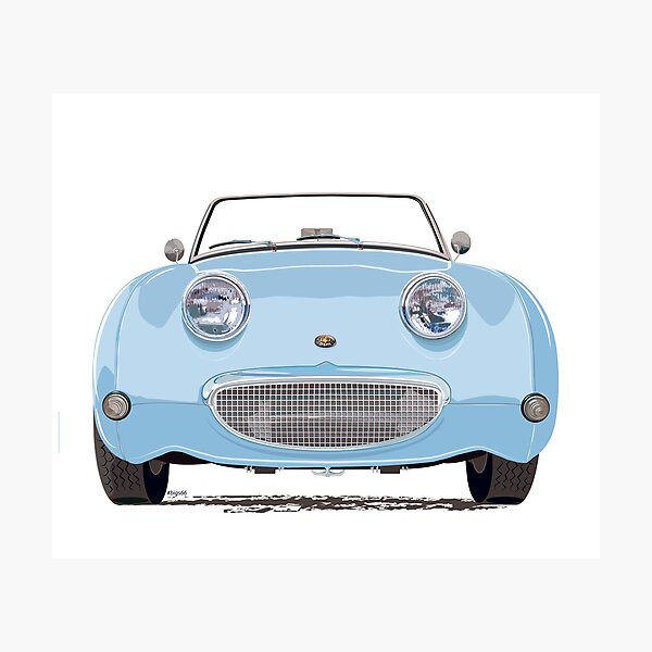 Speedwell Blue Frogeye/Bugeye Sprite, the great little Austin Healey Photographic Print
