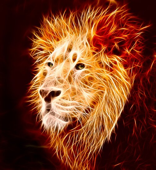 Quot Fiery Lion Quot Posters By Norma Cornes Redbubble