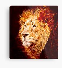 Fiery Lion Metal Print