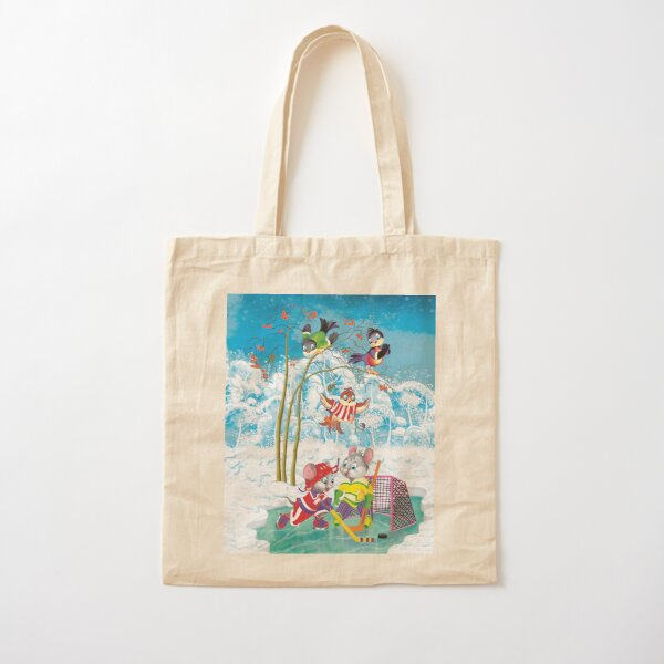 hockey Cotton Tote Bag