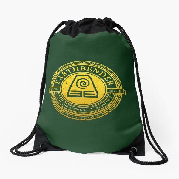 ATLA Earthbender Symbol: Avatar-Inspired Design Drawstring Bag